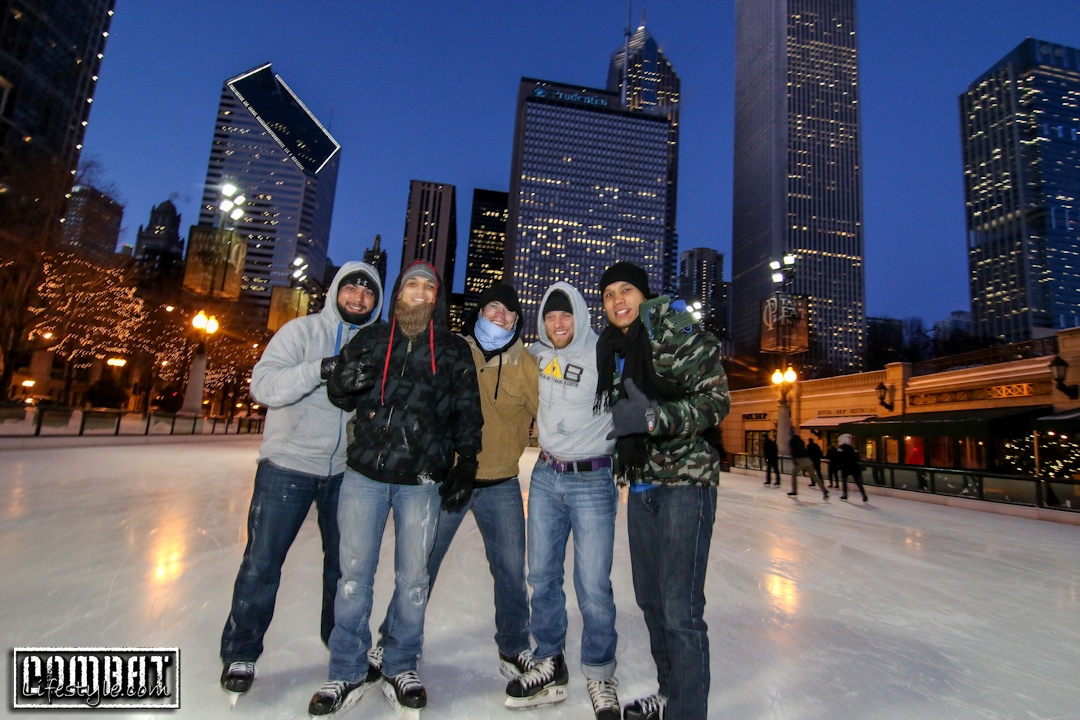UFC Fighters in a Polar Vortex in Chicago