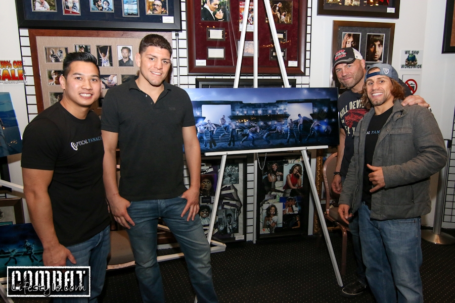 Nick Diaz and Randy Couture Autograph Signing
