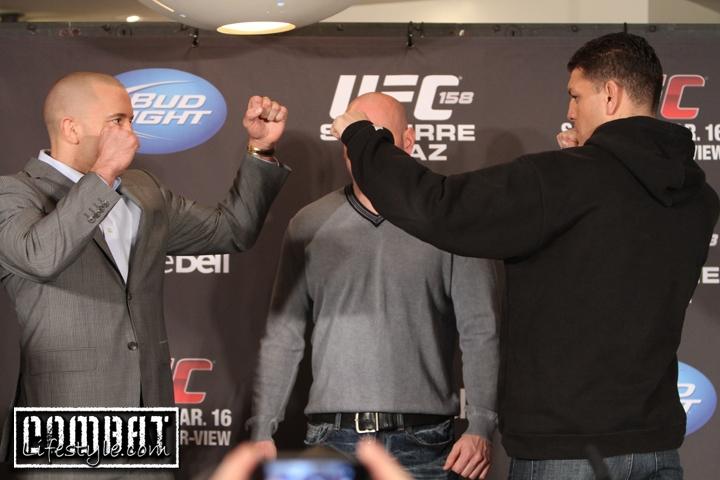 UFC 158 Press Conference Pics