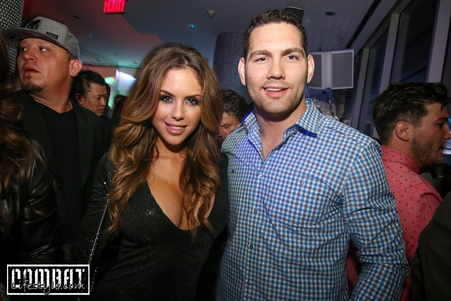 Brittney Palmer Hosts Leather and Laces UFC 171 Afterparty