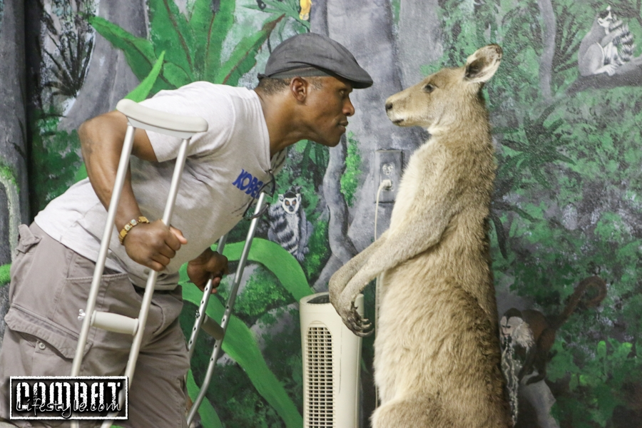 Kevin Randleman Faces off With a Kangaroo