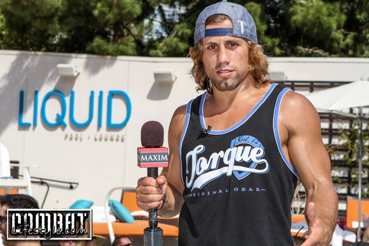 Urijah Faber hosts Maxim Magazine at Liquid LV