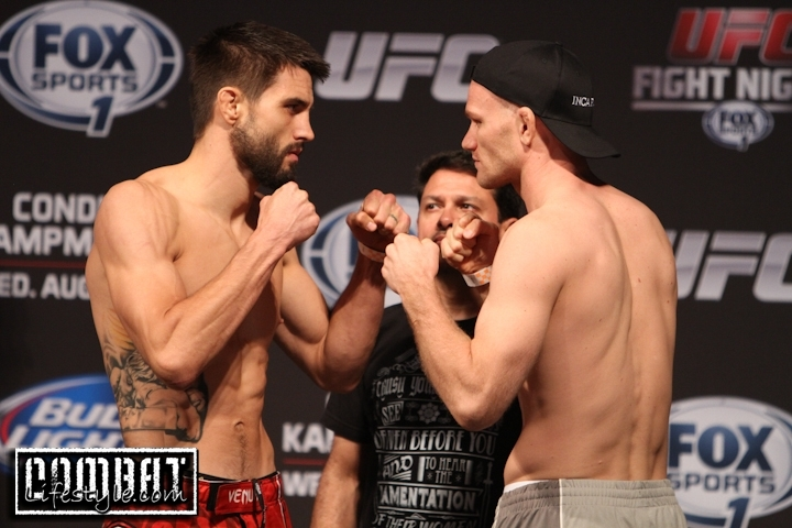 Fight Night Condit Vs Kampmann Weigh Ins