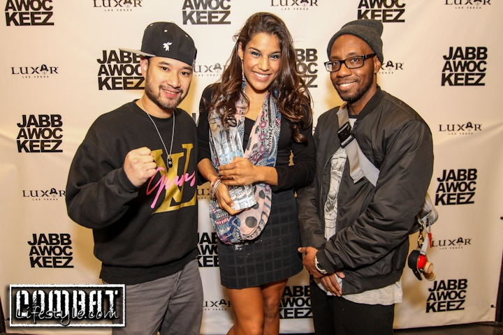 Jabbawockeez hanging with TUF Winner Julianna Pena