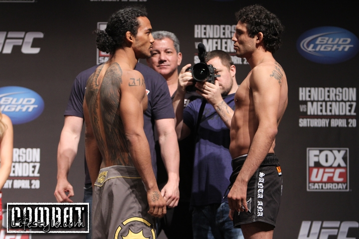 FOX UFC on Saturday Weigh In Pics