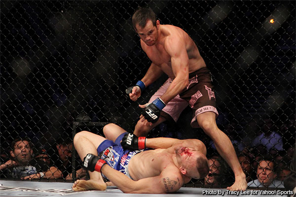 Today in MMA Photo History Chuck Liddell vs Rich Franklin